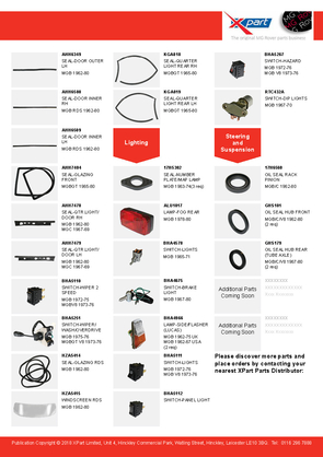 Flyer - New To Range Classic MGB Parts 4