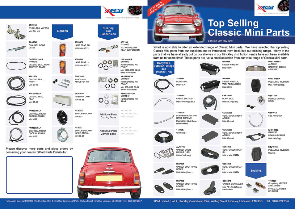 Flyer - Top Selling Classic Mini Parts 1