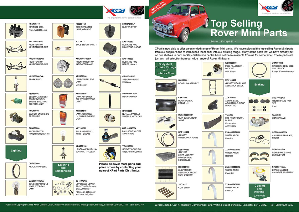 Flyer - Top Sellig Rover Mini Parts 1